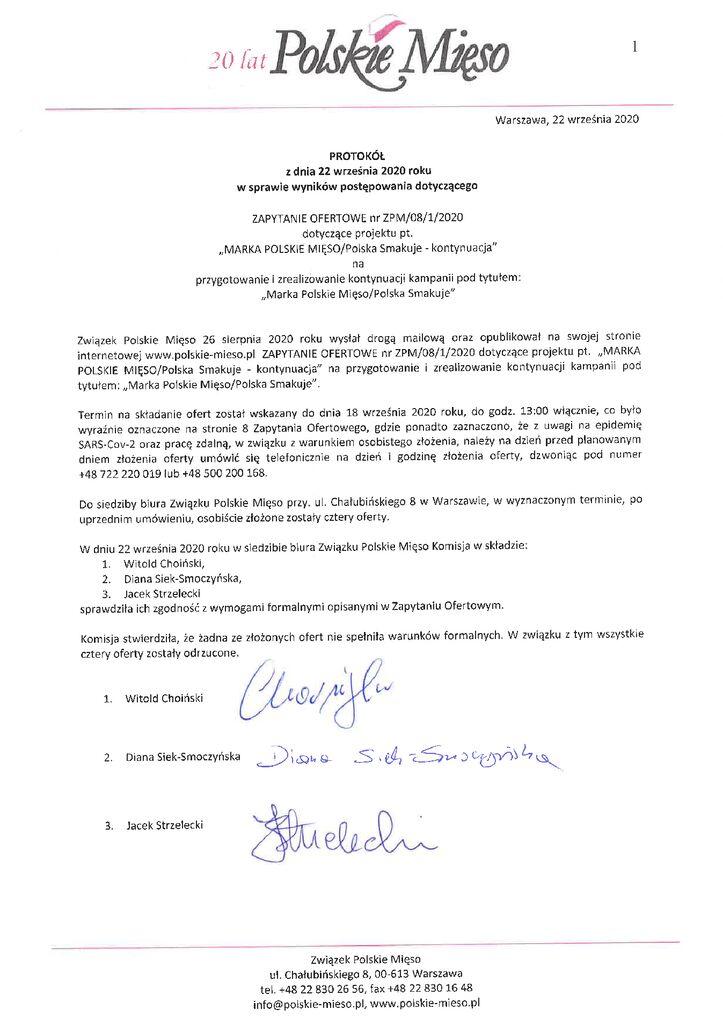 thumbnail of Protokół – Marka Polskie – Mięso – 22.09.2020